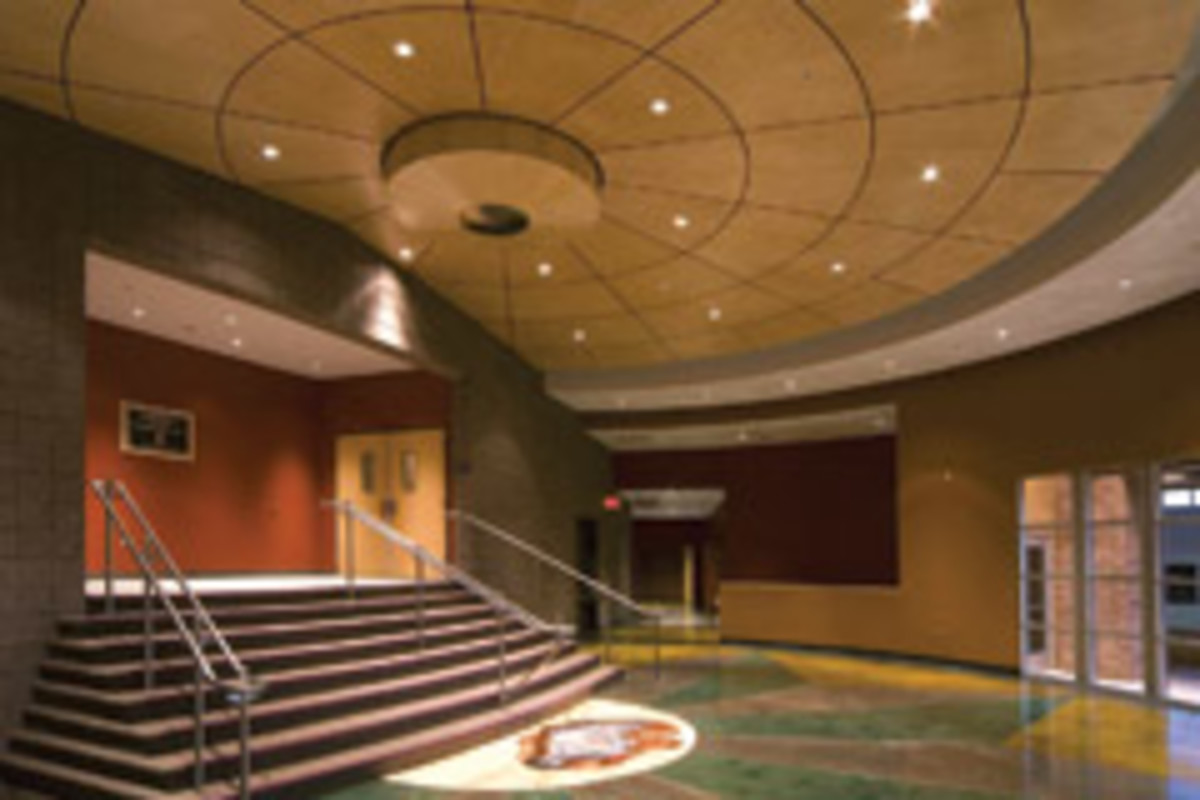 This project for the George Gardner Community Auditorium in Holbrook, Ariz., included an elaborate radius work.