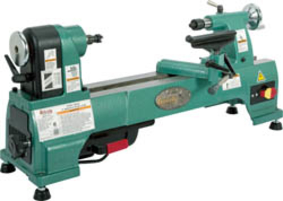 Grizzly Debuts New Benchtop Wood Lathe Woodshop News