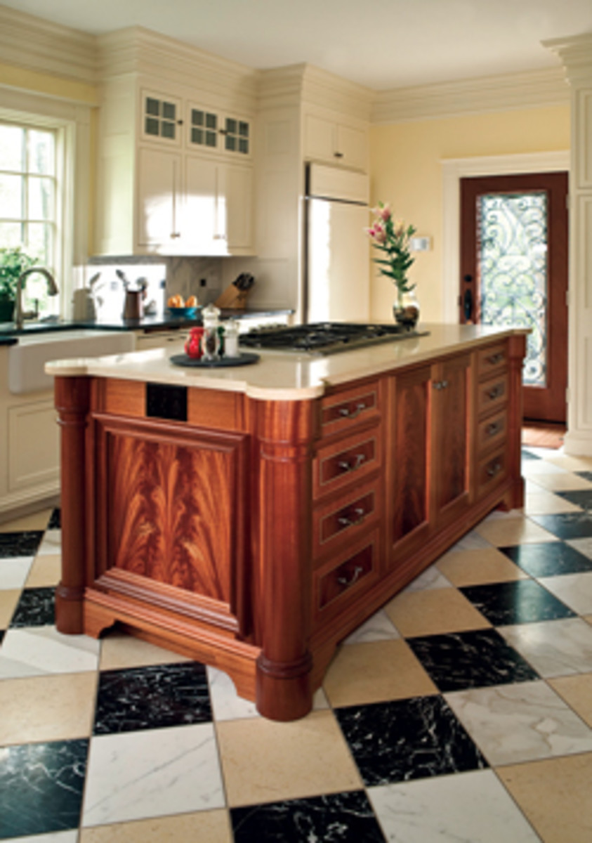 Hanson creates all types of specialty furniture such as this kitchen center island.