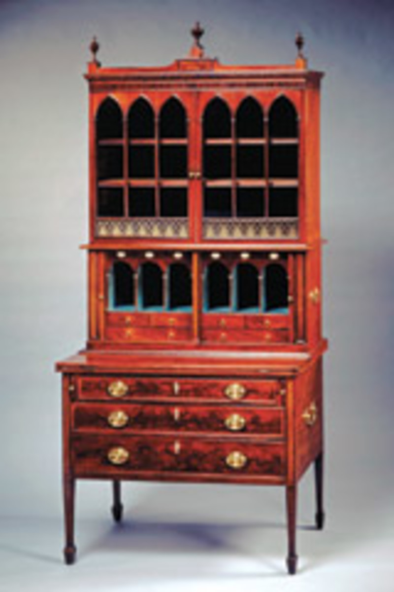 "Pieces from ""Something of Splendor: Decorative Art from the White House,"" which opened in October at the Smithsonian American Art Museum's Renwick Gallery, include this Seymour desk."