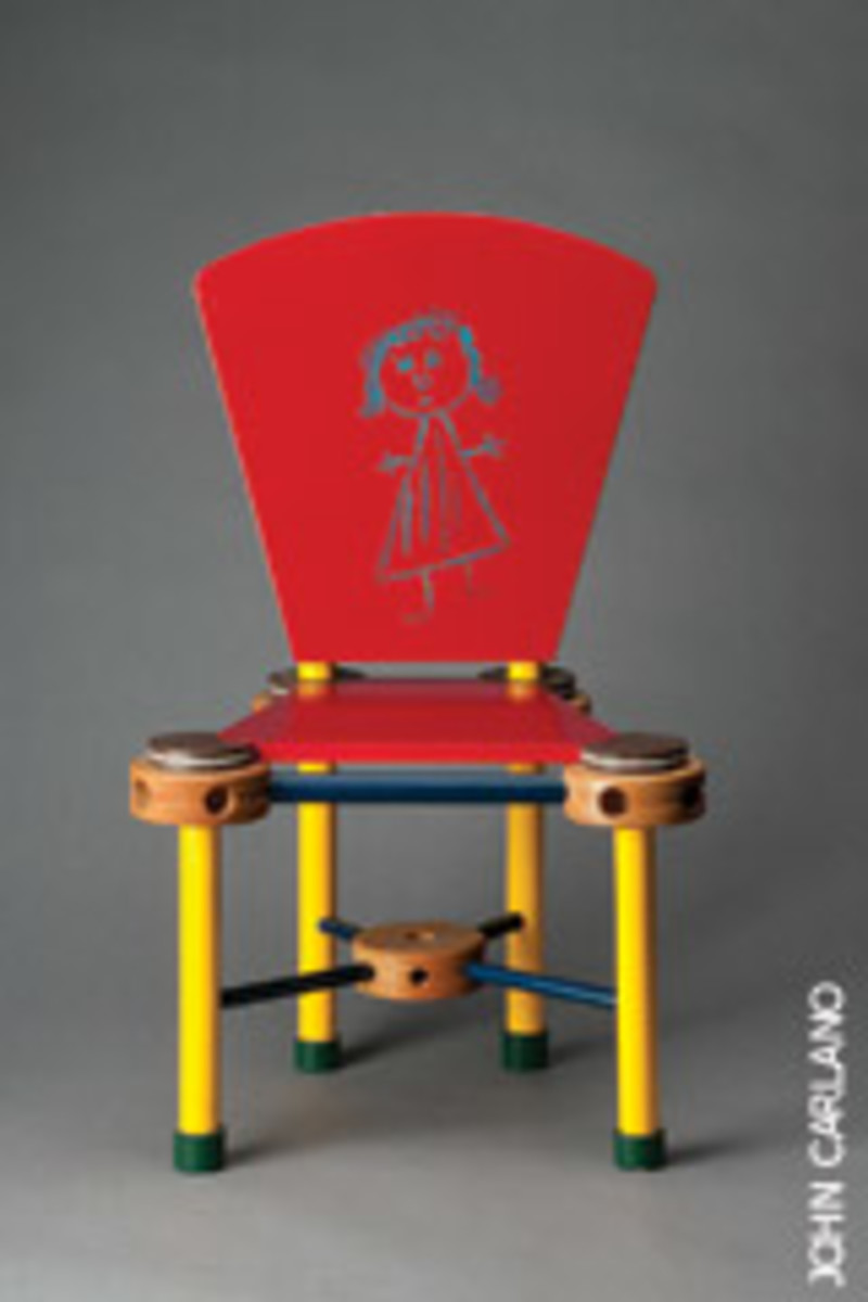 "The ""Turning Art into Wood"" exhibit in Philadelphia includes this ""Child's Chair"" by Joanna Shima."