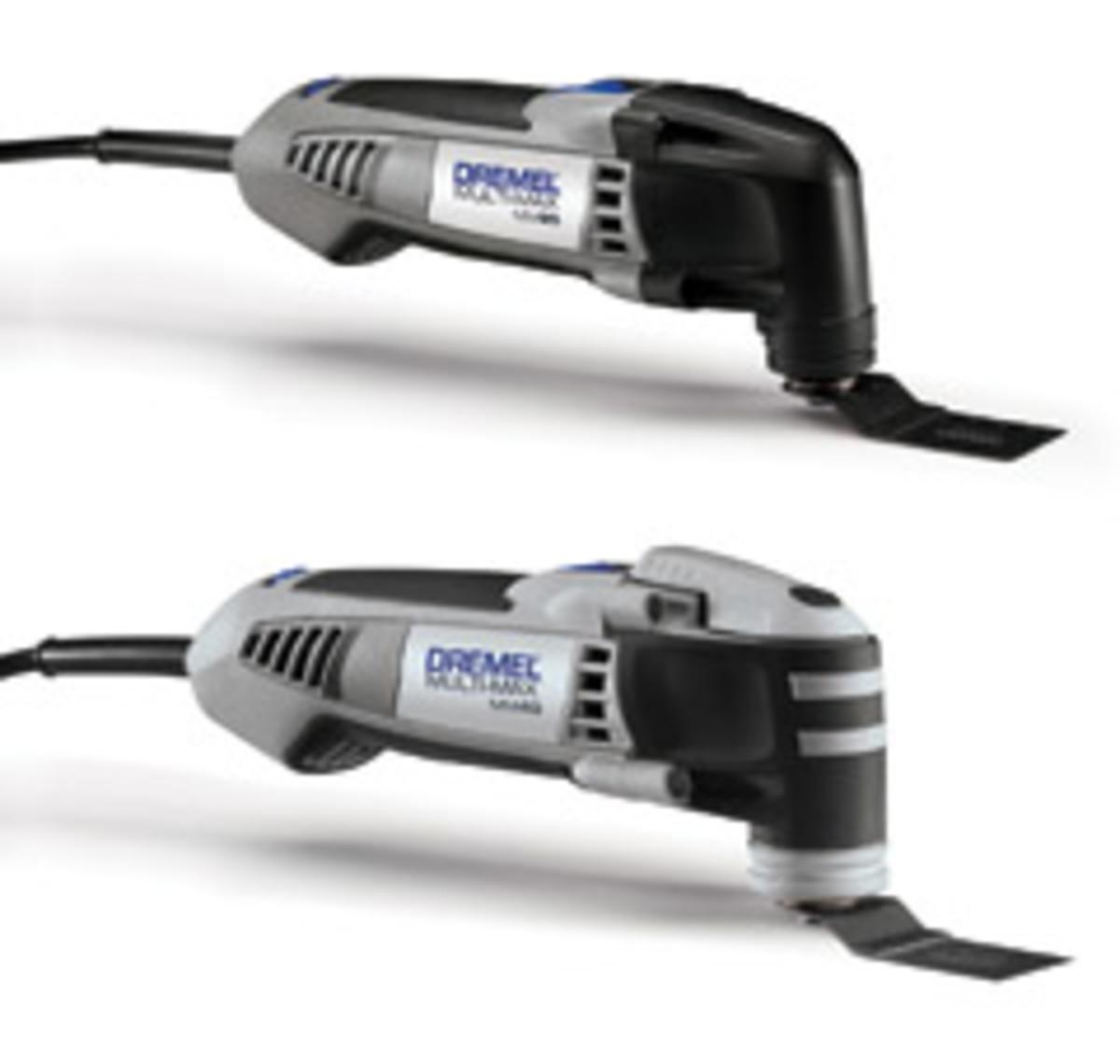 Dremel models MM20 and MM40 oscillating tools.