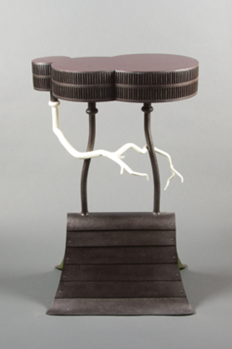Fuller also presents this John Rais nightstand.