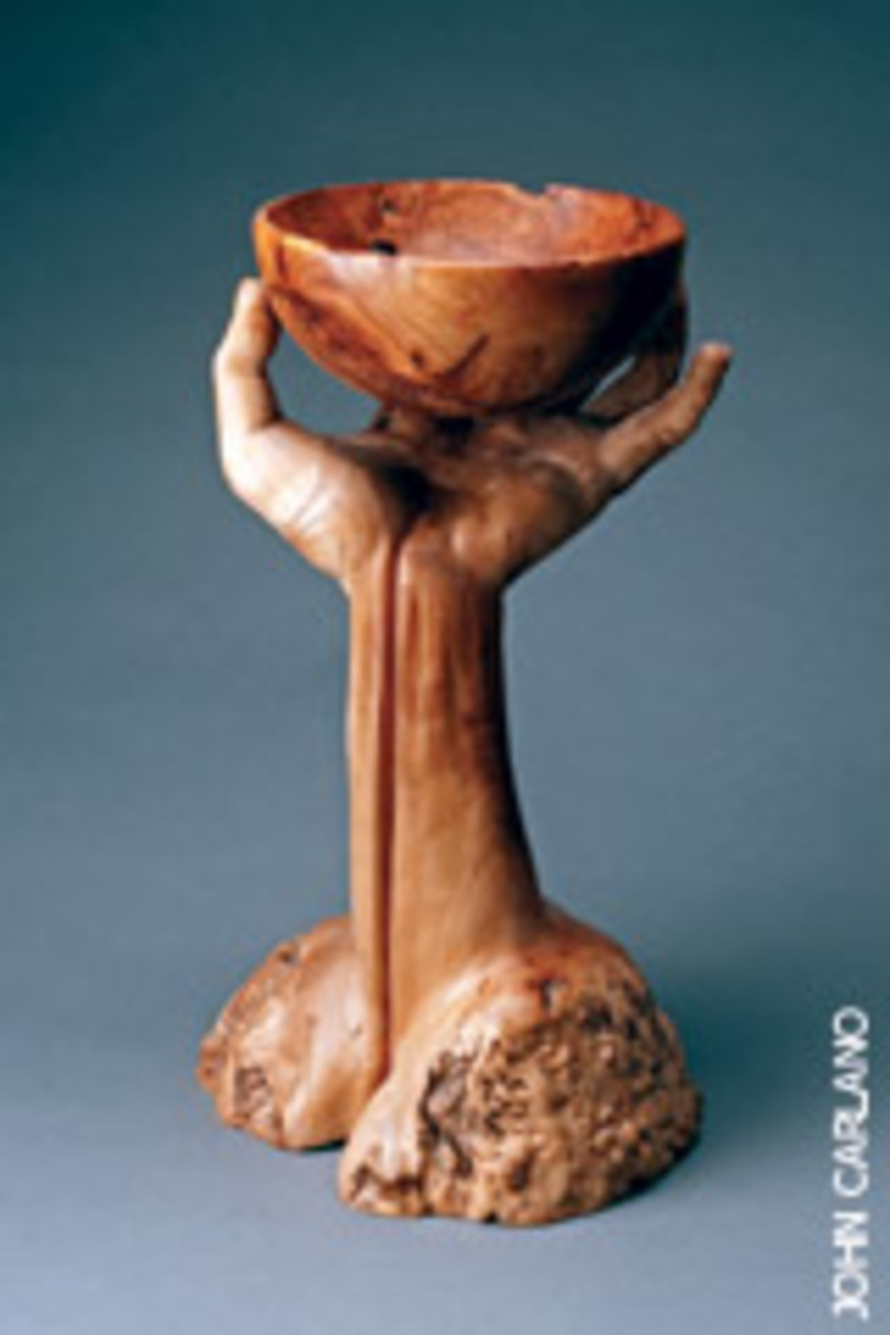 "The ""Turning Art into Wood"" exhibit in Philadelphia includes ""Self Portrait"" by Michelle Holzapfel."