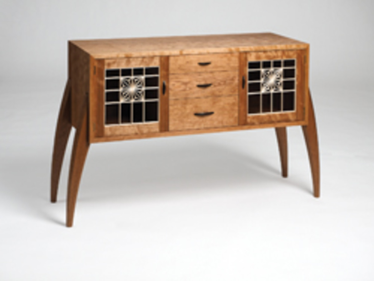 The Messler Gallery's exhibit featured a credenza by Adam Howell.