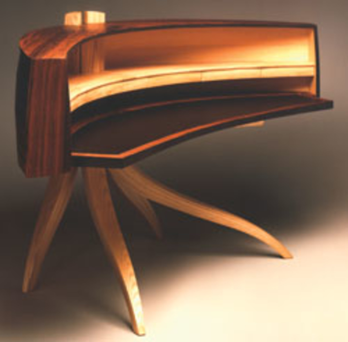 Osgood's curved desk.