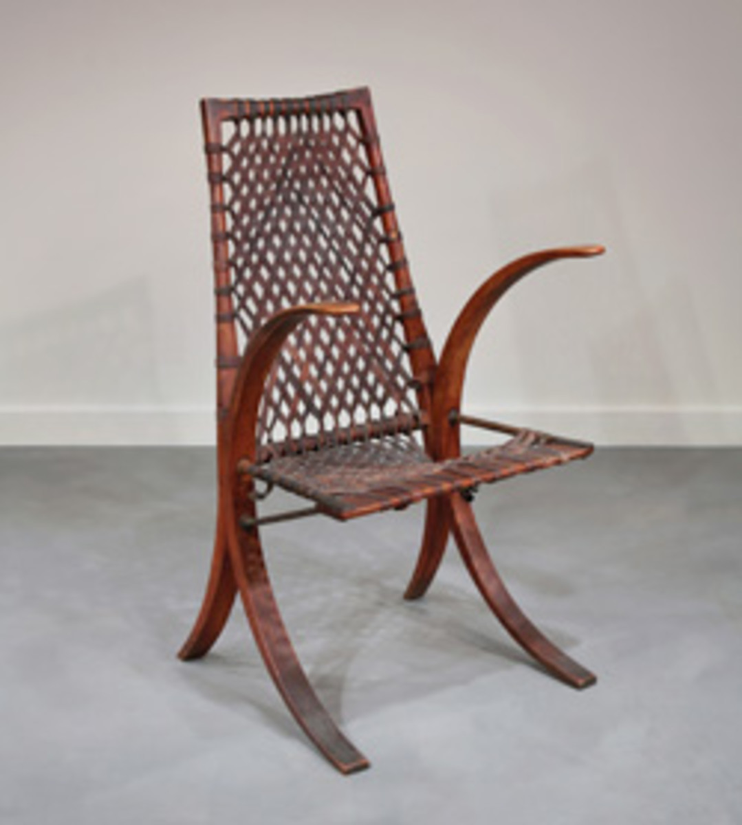 Esherick's Wagon Wheel armchair (1939) and his first music stand, commissioned in 1951.