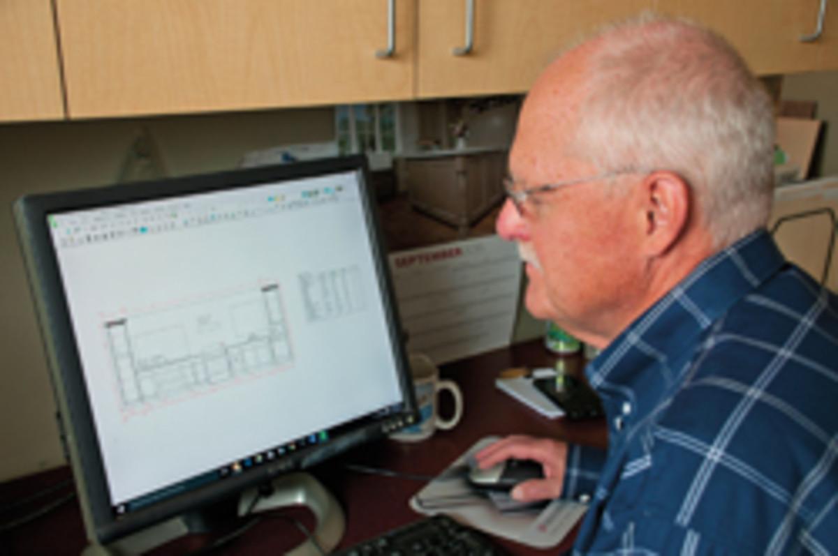 Don Fiddes handles the shop's design duties.