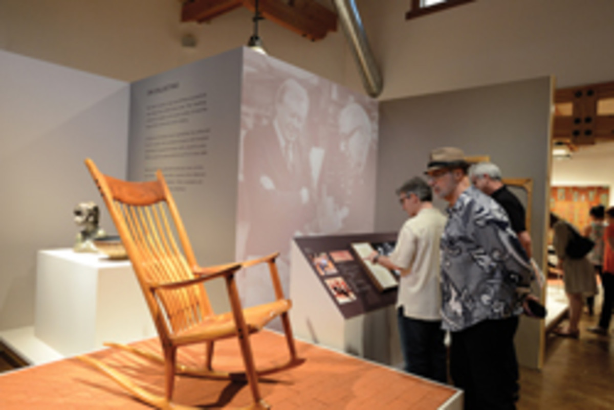 Maloof's iconic rocker was a crowd pleaser.