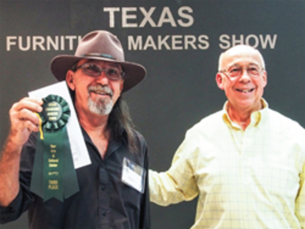 Jody Fletcher of Seguin, Texas, with his third-place ribbon.