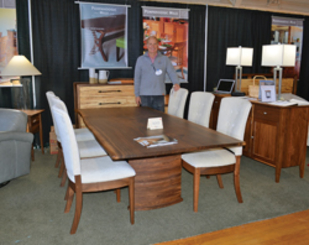 Dwight Sargent sold this dining table and chairs at the Rhode Island Fine Furnishings Show.
