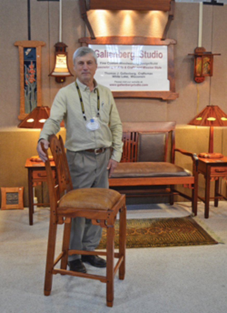 Tom Gallenberg of White Lake, Wis., was a first-time exhibitor at the Rhode Island show.
