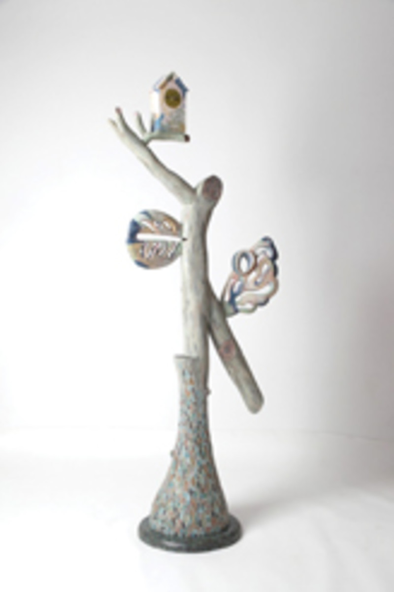 """""""Lucky Leaf"""" vase by Michelle Holzapfel."""