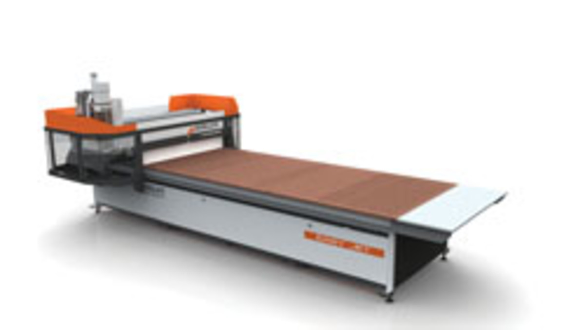 The Busellato Easy Jet is available in 4x8 and 5x12 table sizes with a new optional panel unloading device with integrated dust collection. For information, visit www.casadei-busellato.com.