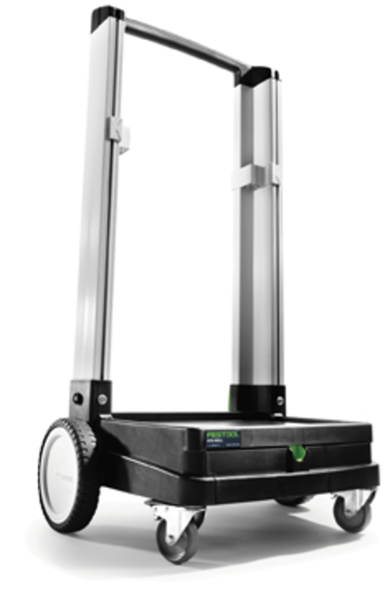 The Sys-Roll is a lightweight handcart capable of carrying 220 pounds.
