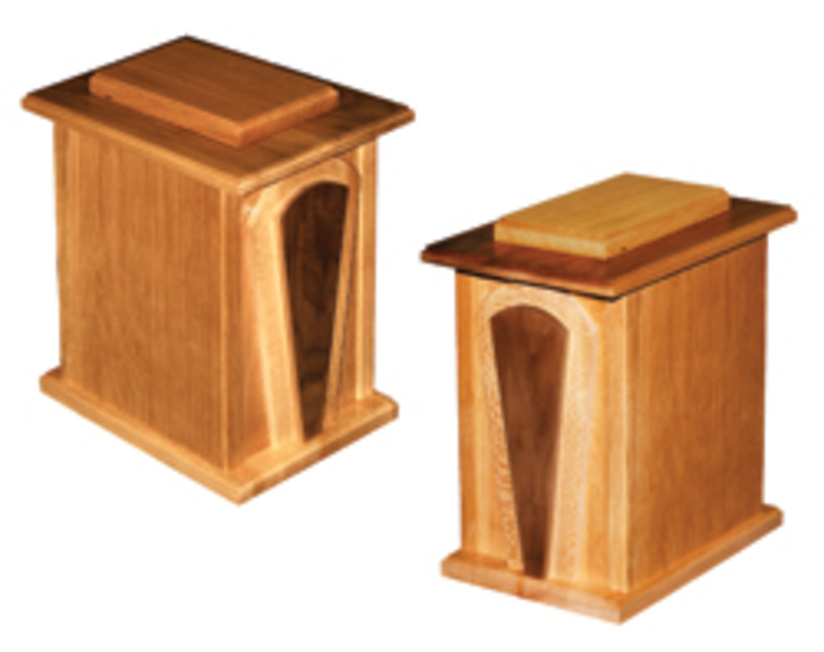 Urns are a popular alternative to caskets.