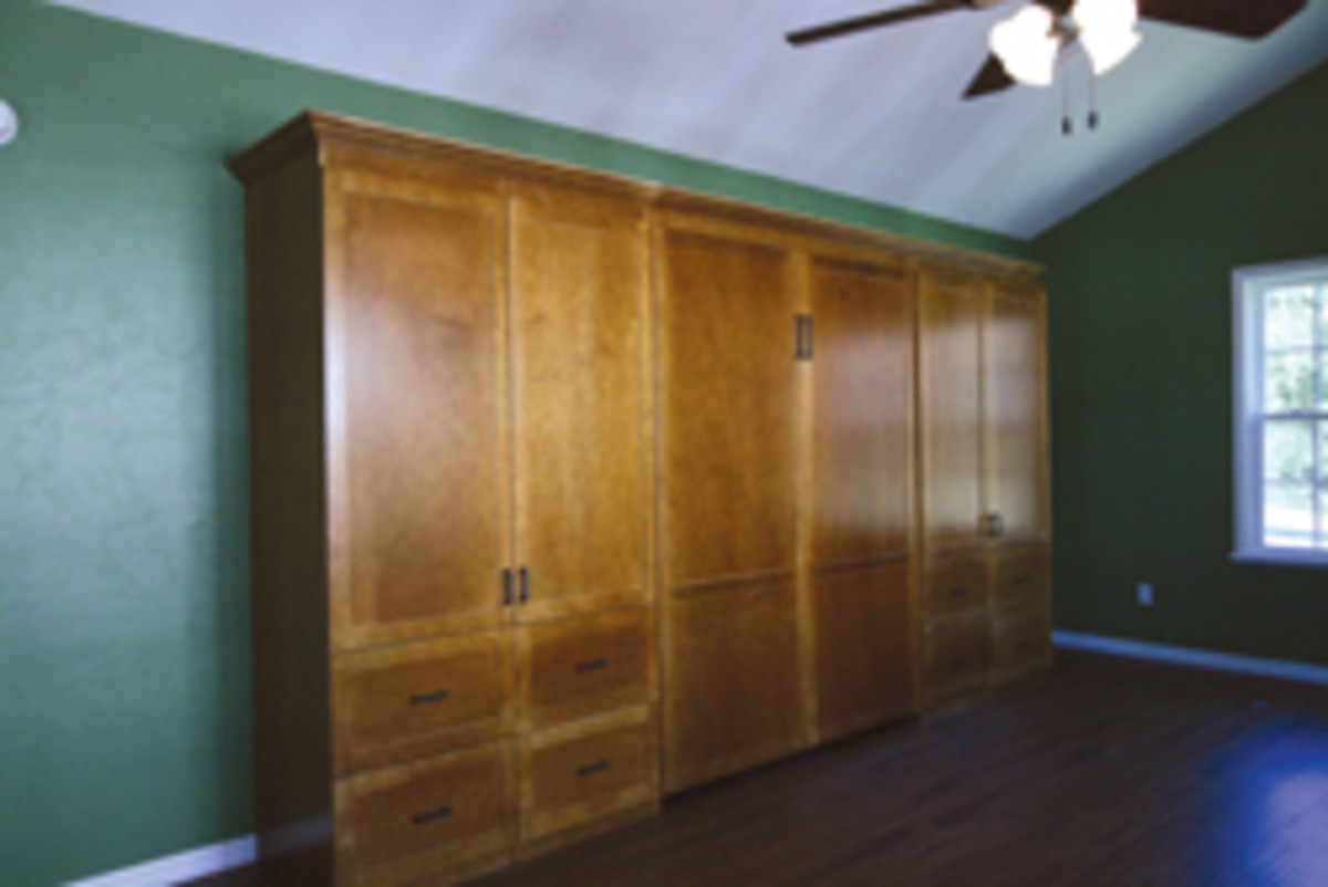 What's behind door Nos. 3 and 4? A Murphy bed, of course, and maybe some surprise artwork.