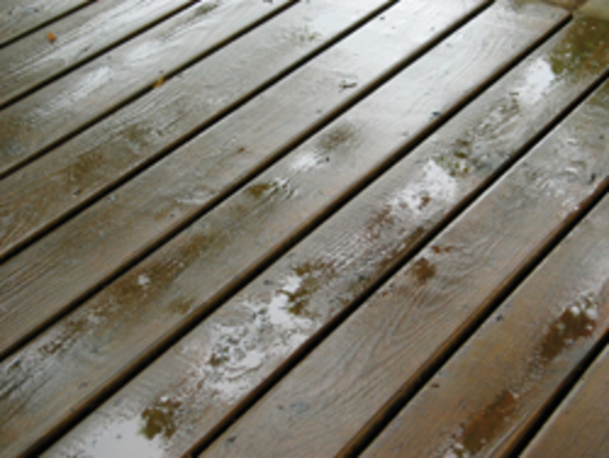 A goal of a good-quality coating is to block water from getting to the wood for as long as possible.