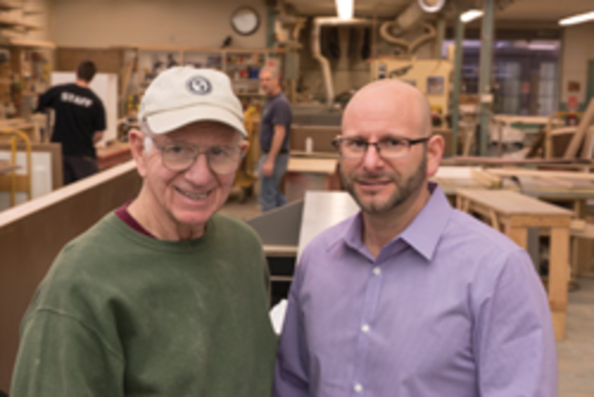 Frank Shatz, left, founded the company in 1959. His son, Randy, meets with customers and runs the business.