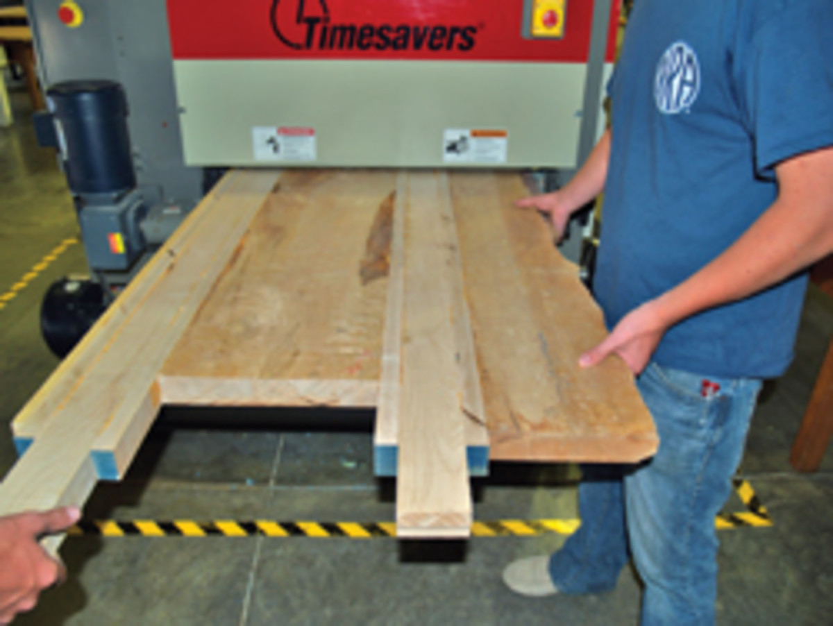 Flattening the tabletop was a chore, even with a borrowed sander.