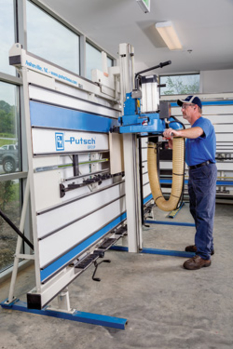 Vertical panel saws have a short learning curve.
