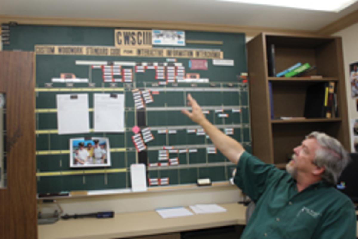 Mark Loyd in the shop's boardroom.