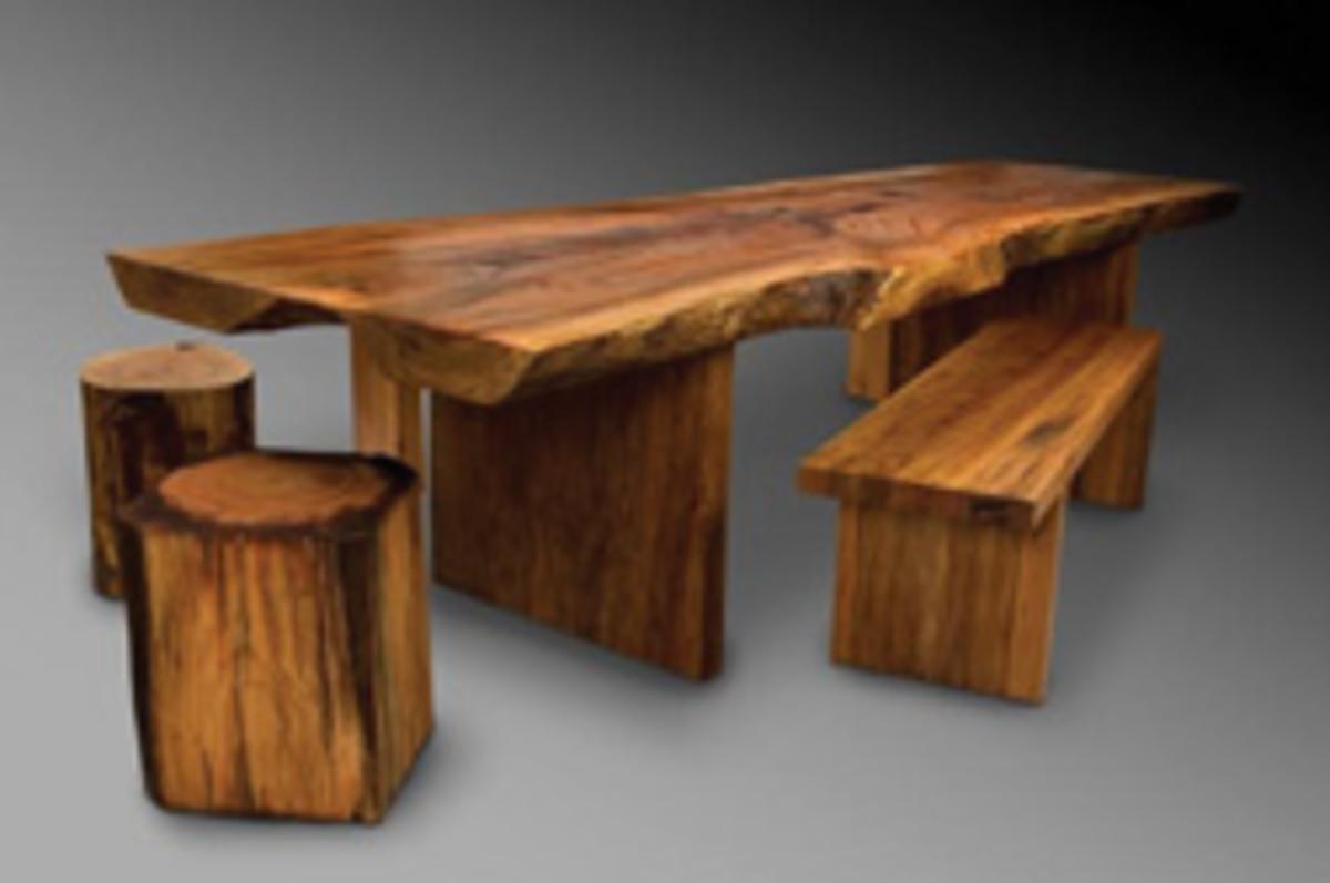David Stine's walnut table.