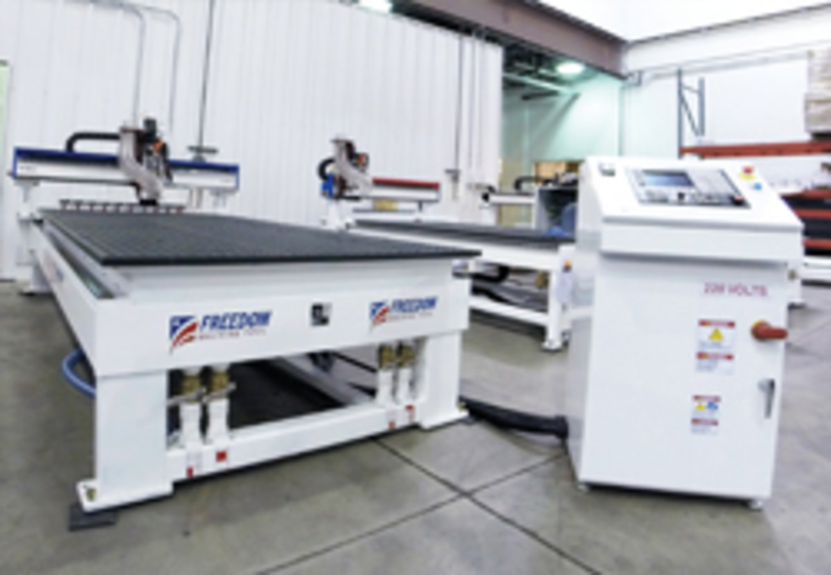 Freedom Machine Tool's Patriot CNC router, shown with a 5x10