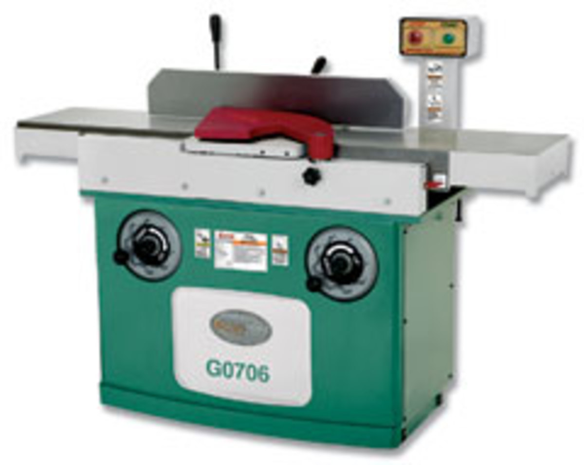 """Grizzly's latest 12"""" jointer, model G0607, features a 60"""" bed."""