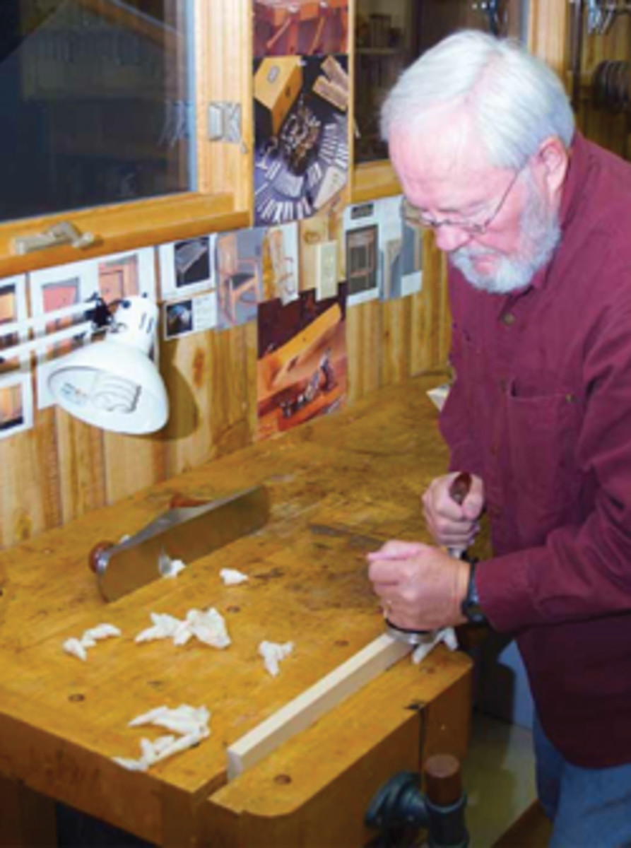 Woodworker Ken Froelich prefers hand tools to machinery and alder to oak.