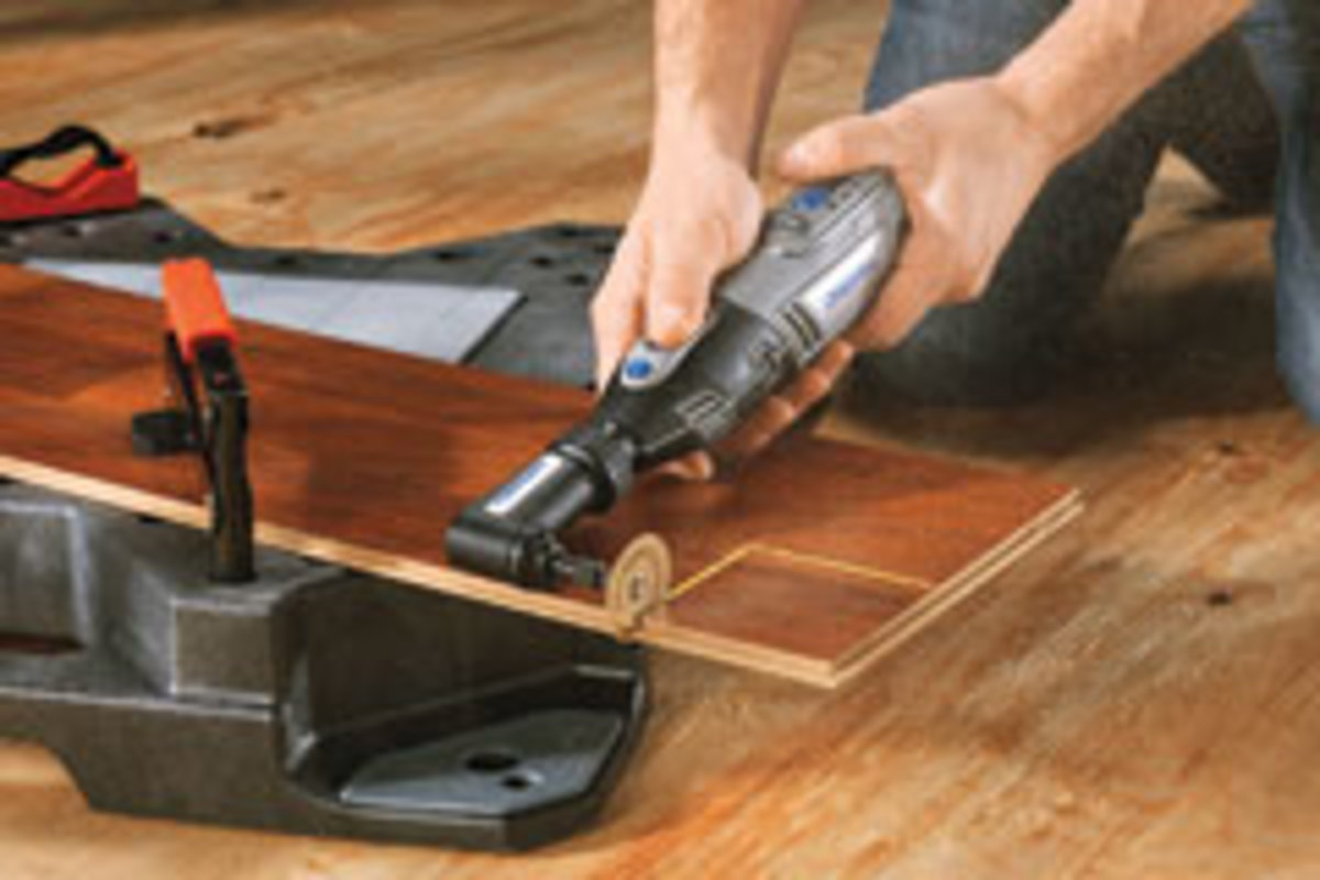 The Dremel 8200 with carbide wheel attachment.