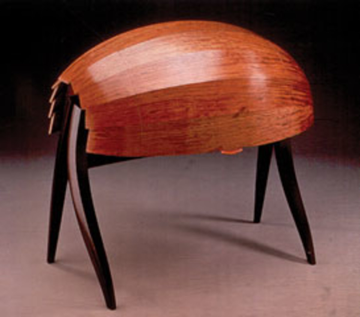 "Bubinga and wenge were the primary woods Jere Osgood used for his 1996 ""Spring Desk,"" which will be on display at the Currier Art Museum's ""Celebrating New Hampshire's Artist"" exhibition, which opens March 6."
