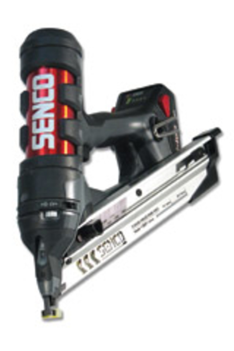Senco's new Fusion finish nailers weigh about 6 lbs. and can be operated with one hand, according to the company.