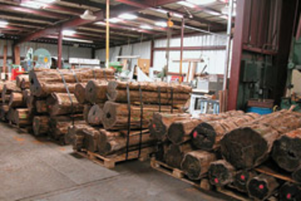 Gilmer Wood Co. in Portland, Ore., will sell you logs on a wholesale basis.