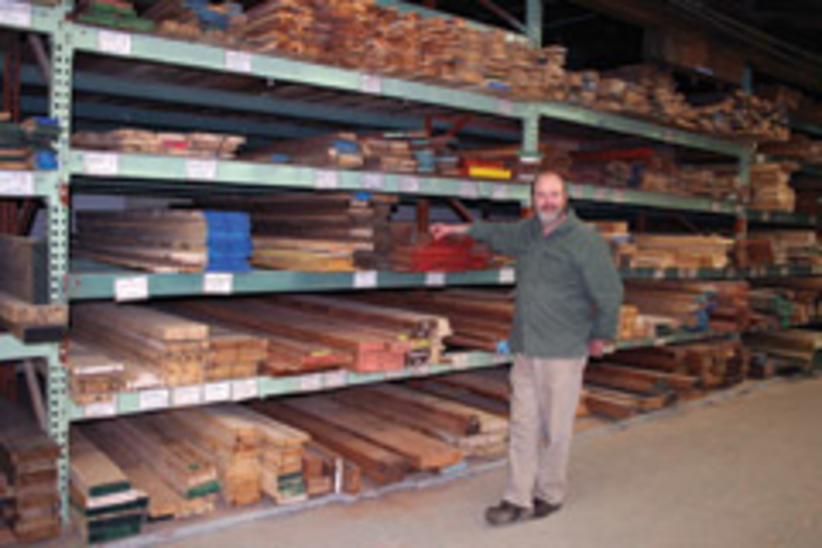 Dave Harris of Parkerville Lumber in Manchester, Conn.