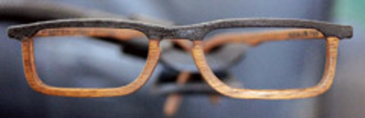 Peter Boerger, owner of Wooden Specs Studio in Indianapolis, makes wooden glass frames with added decorative paint.