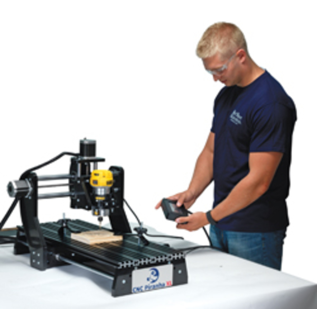 Small format CNC routers include the Piranha from Next Wave Automation.