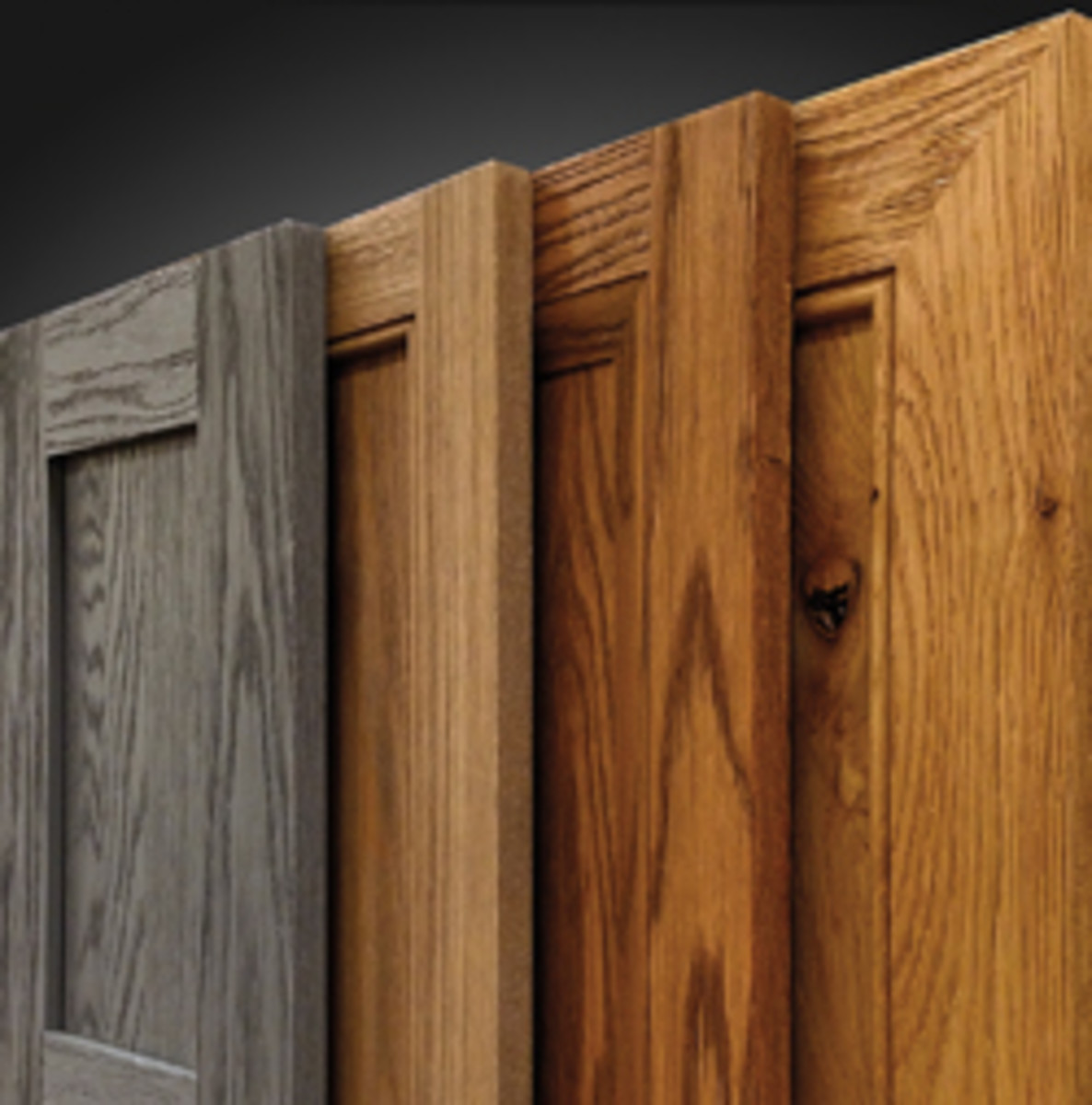 WalzCraft's catalog features more distressed door options.