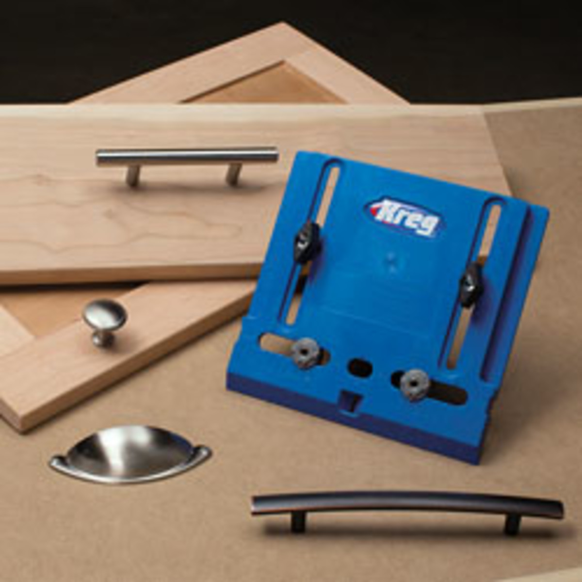 The cabinet hardware jig.