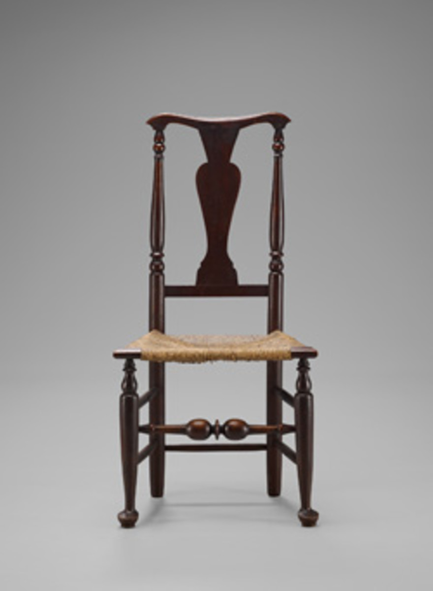 Other pieces in the Yale exhibit include this side chair from the Mabel Brady Garvan Collection.