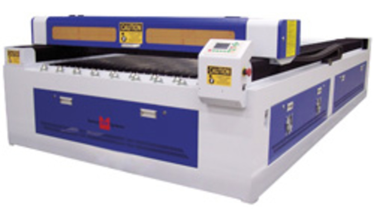 Techno CNC Systems (technocnc.com) offers a new wide format CO2 laser (model 4896) for production shops requiring high speed cutting, engraving and marking applications.