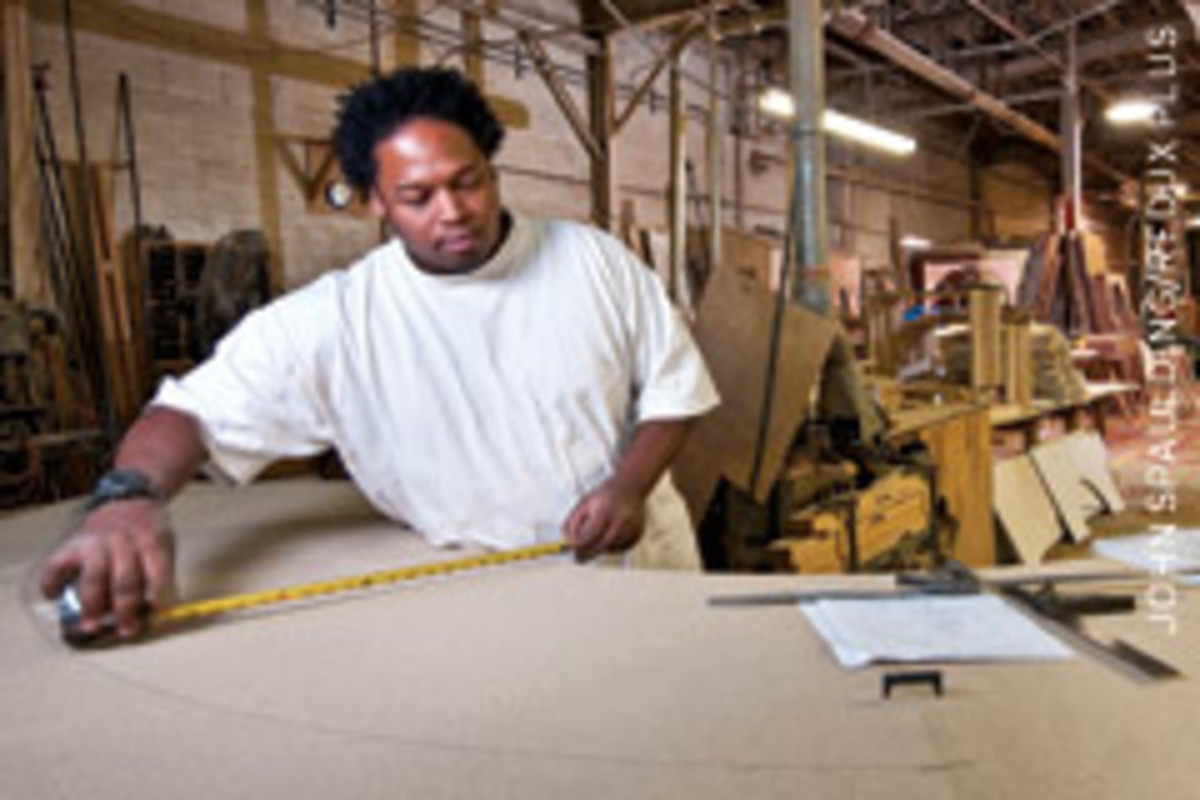 Chesapeake's work force features 15 woodworkers and about a dozen installers.