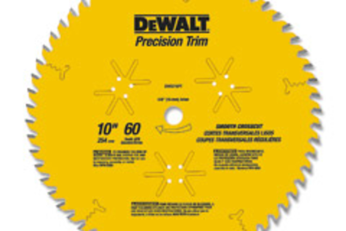 DeWalt says its new trim saw blades feature a thin kerf, laser-cut hardened steel plate that allows for fast, smooth cutting with minimal material waste.