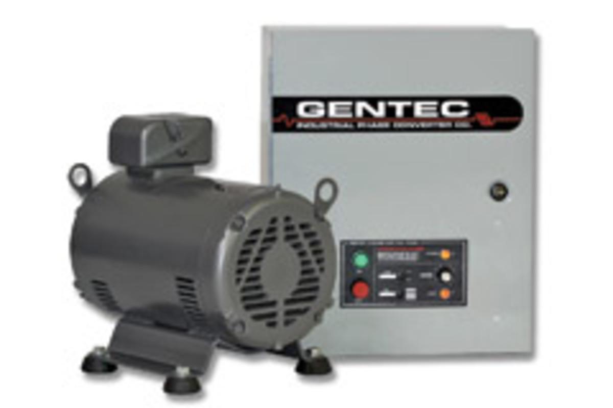 Gentec's rotary phase converter.