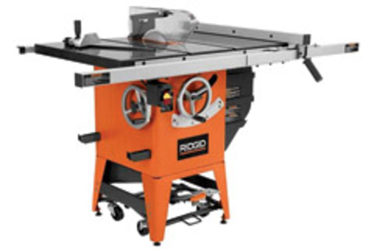 "Ridgid model R4511 10"" table saw"