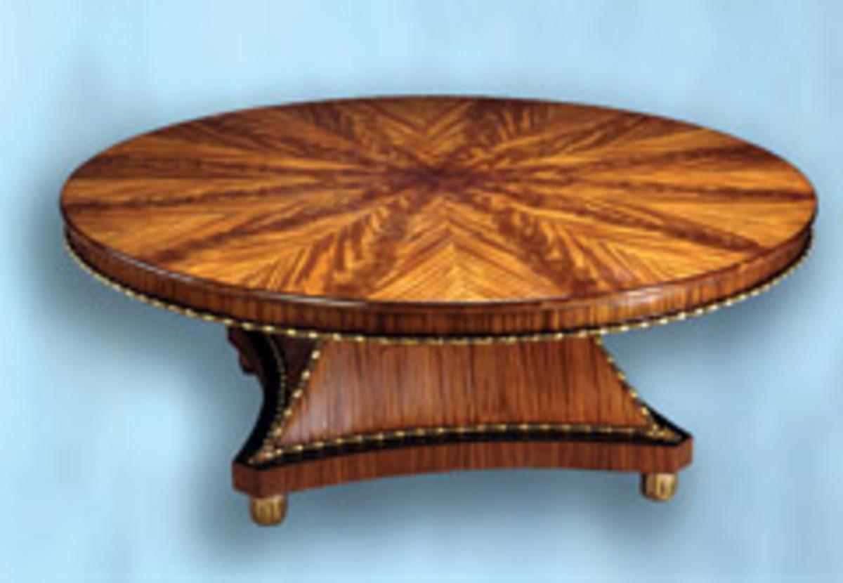 DeGruy's extensive portfolio includes this elegant dining room table.