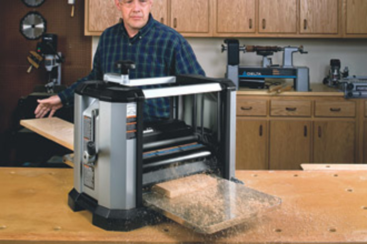 "One of the latest offerings from Delta includes this 13"" portable planer."