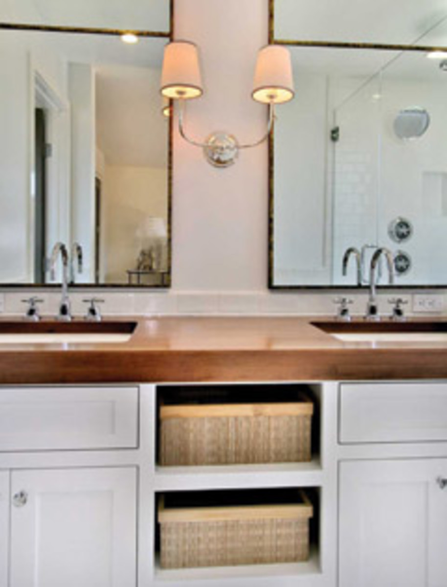 Smaller projects, such as bathroom vanities, keep the shop busy in between kitchens.