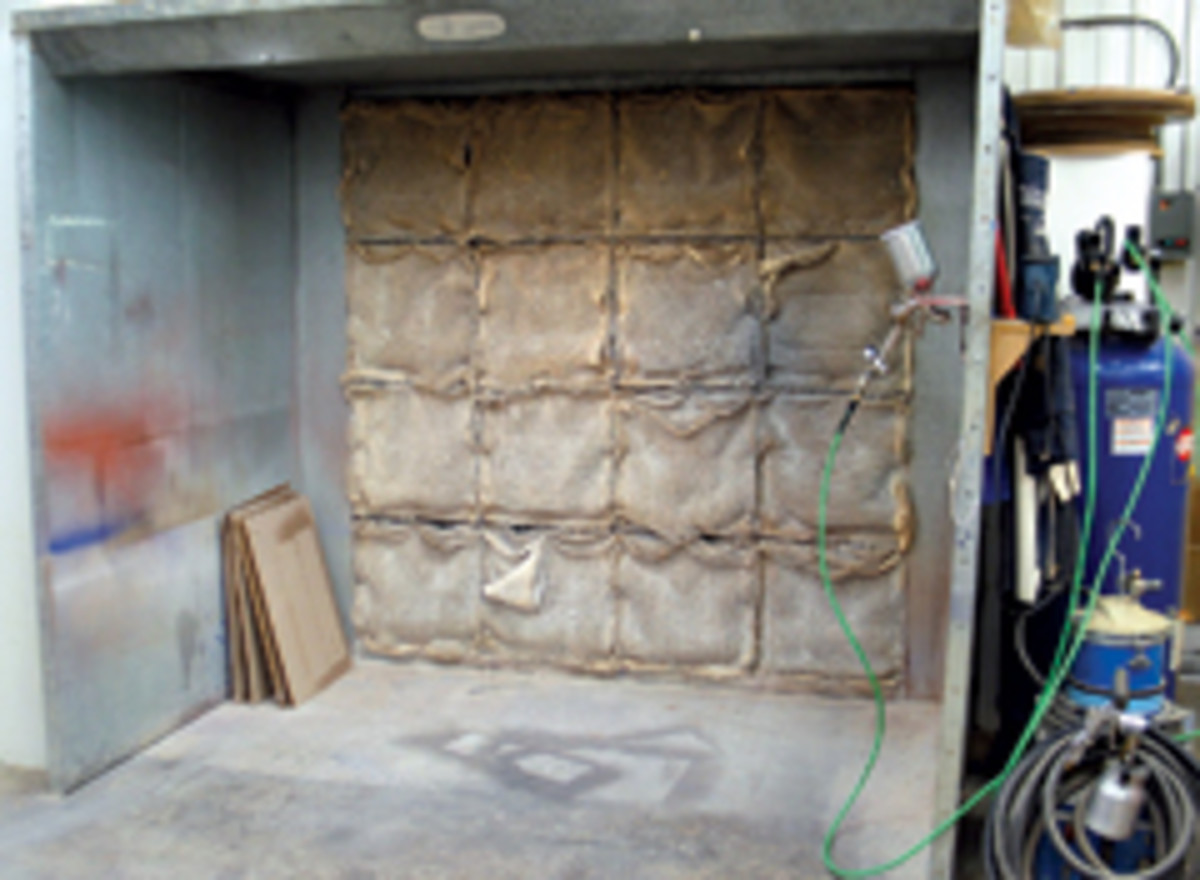 A typical commercial spray booth.
