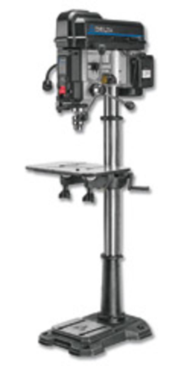 """Delta's new 18"""" laser drill press, model 18-900C."""